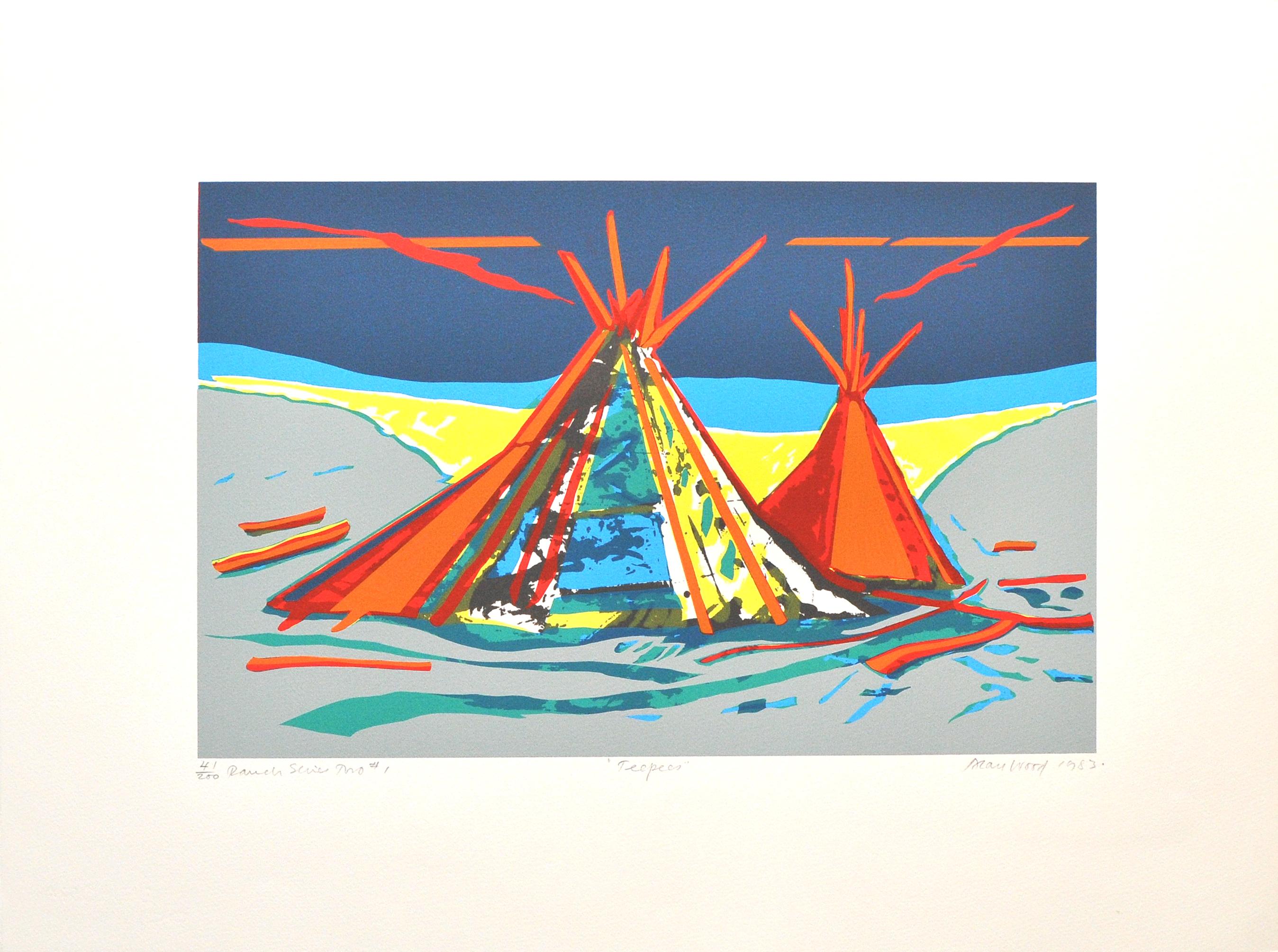 Alan_Woods_1983_Prints_#41_RanchSeriesTwo#1_Teepees
