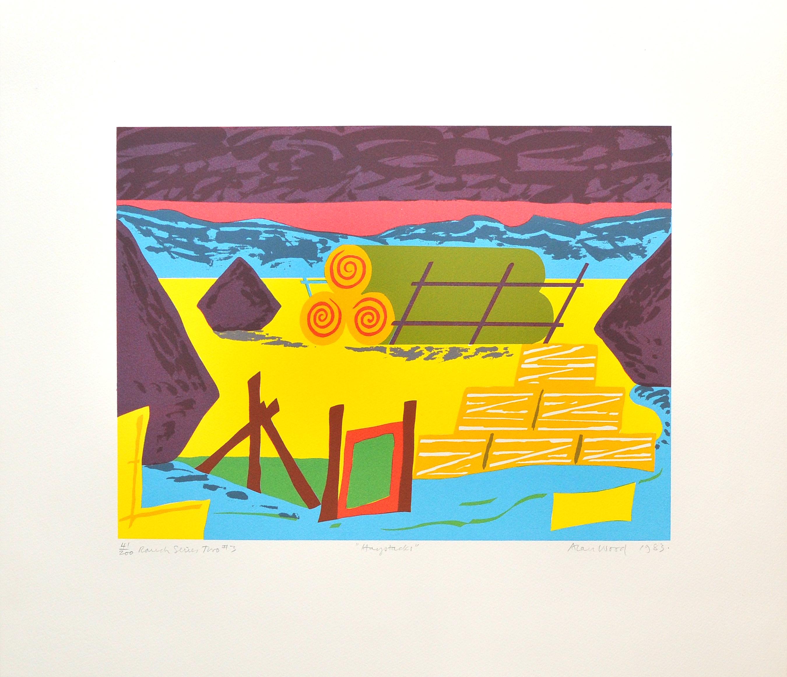 Alan_Woods_1983_Prints_#41_RanchSeriesTwo#3_Haystacks