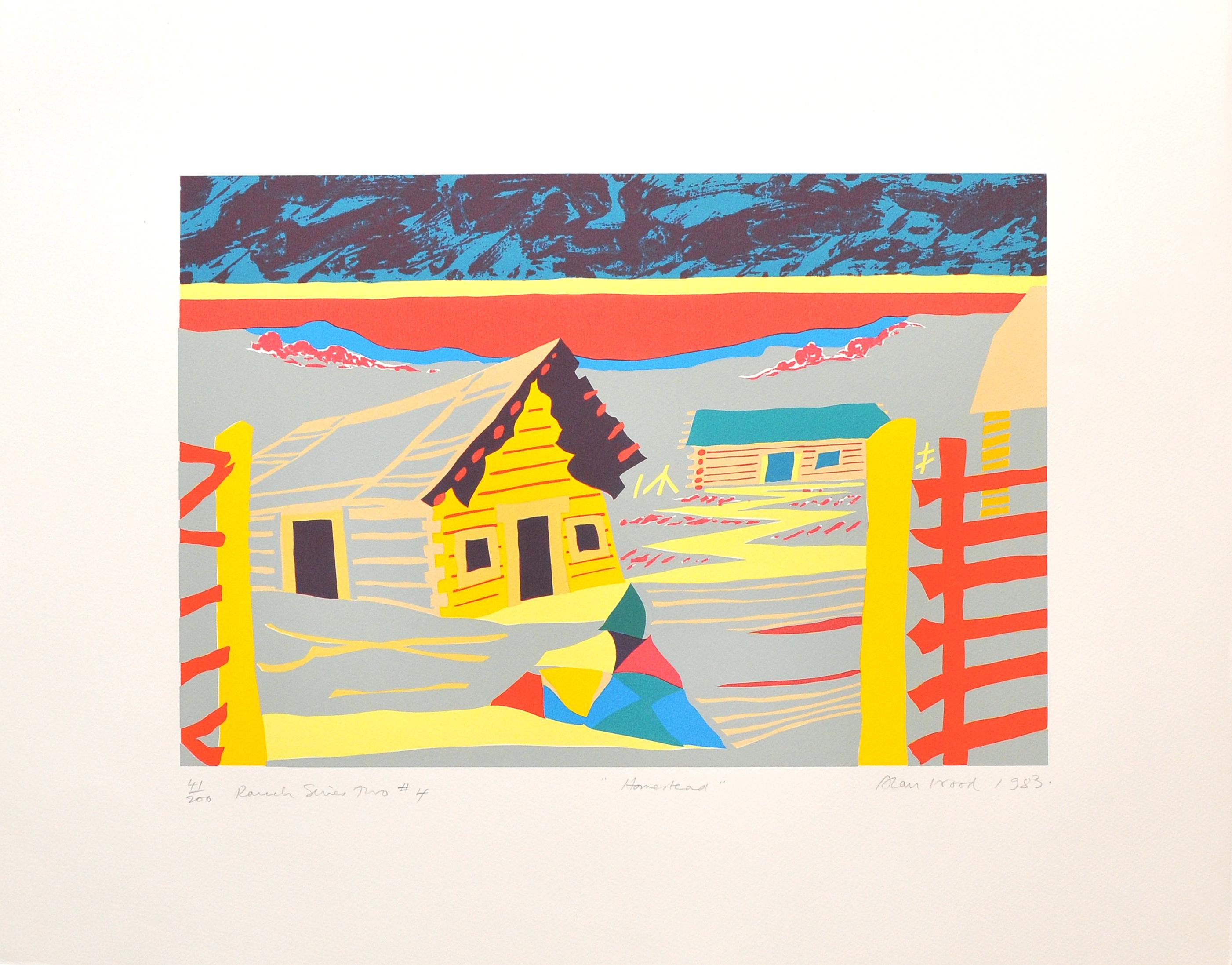 Alan_Woods_1983_Prints_#41_RanchSeriesTwo#4_Homestead